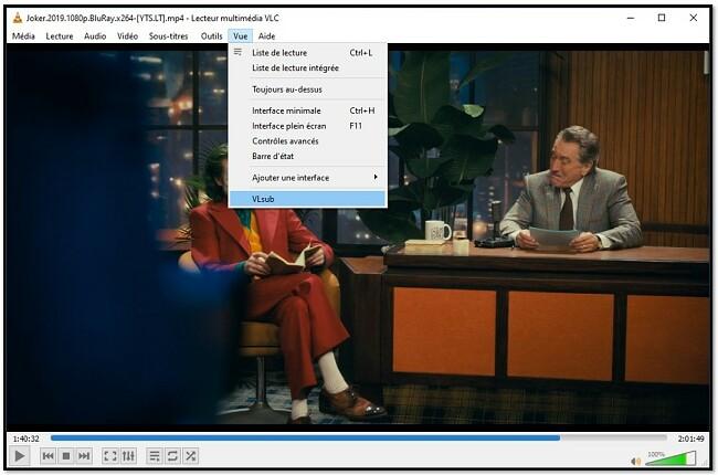 Rechercher des sous-titres avec VLC VLsub
