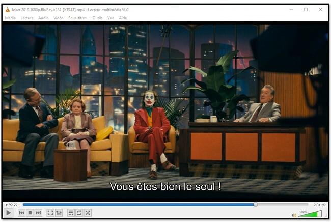 Affichage des sous-titres sur VLC Media Player
