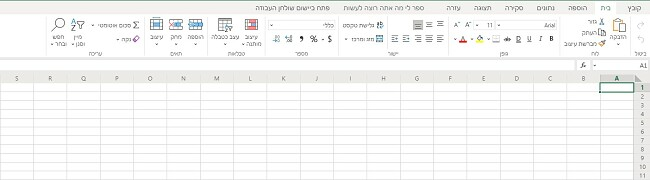 Excel בחינם מבוסס דפדפן
