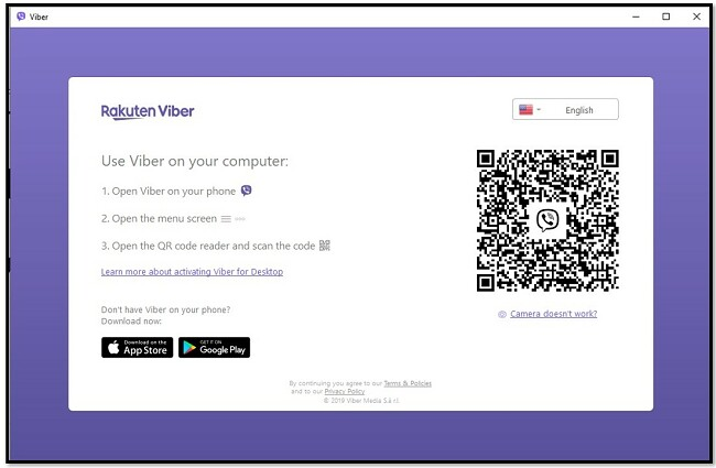 סרוק קוד QR לשימוש Viber במחשב