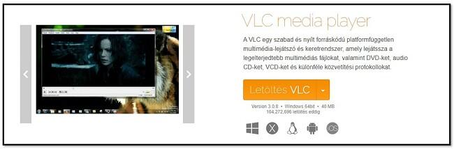 Službena stranica za preuzimanje VLC-a