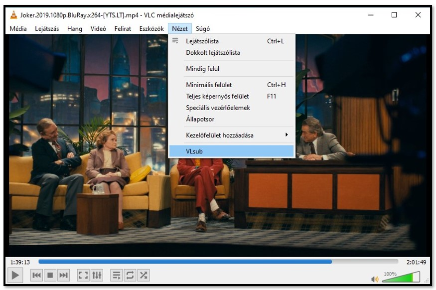 Search for Subtitles with VLC VLsub