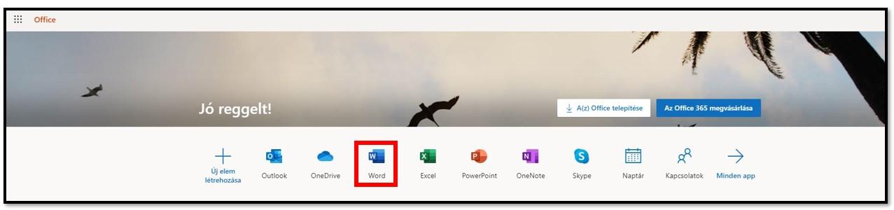 Az Office 365 ingyenesen elérhető online