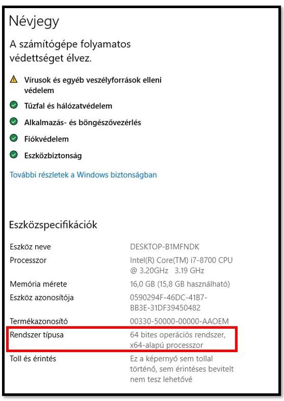 WinRAR rendszerbeállítások