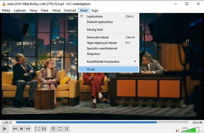 Feliratok keresése a VLC VLsub segítségével