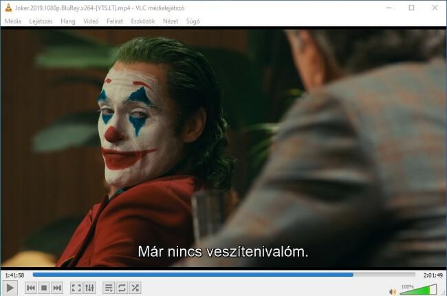 Felirat megjelenítése a VLC Media Player-en
