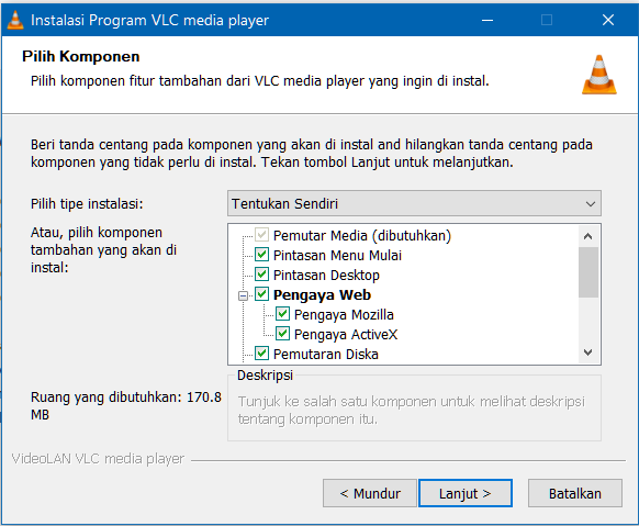 Opsi Pengaturan VLC