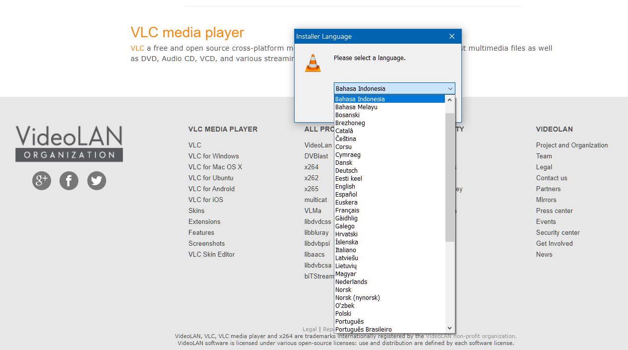 Opsi Bahasa VLC