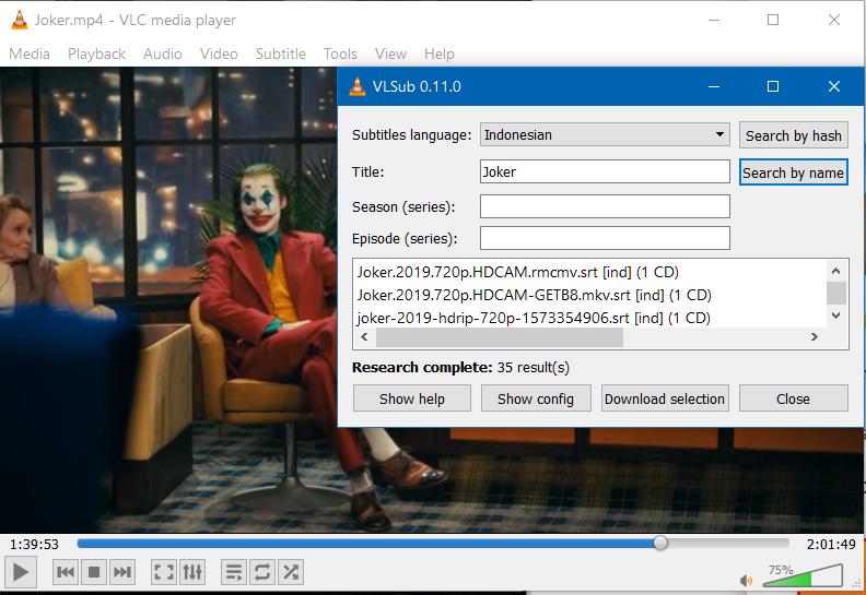 Tambahkan Informasi Media ke VLC VLsub