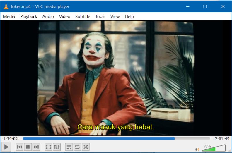 Menampilkan Subtitle pada VLC Media Player