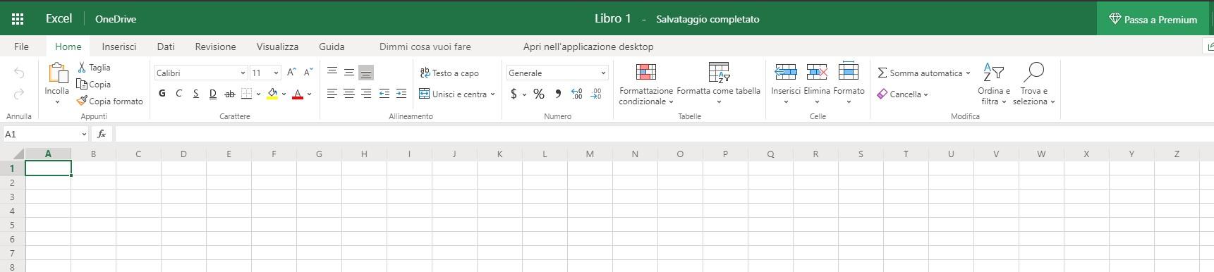 Excel gratuito basato su browser
