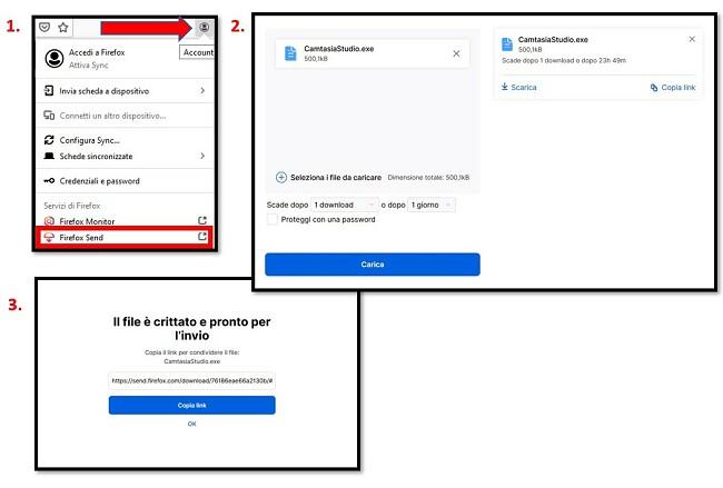 Come usare Firefox Send