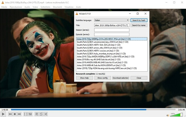 Aggiungi informazioni multimediali a VLC VLsub