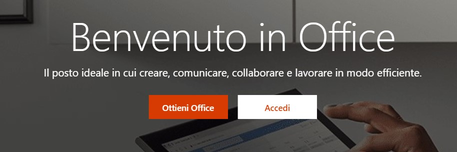 Home page di Microsoft Office
