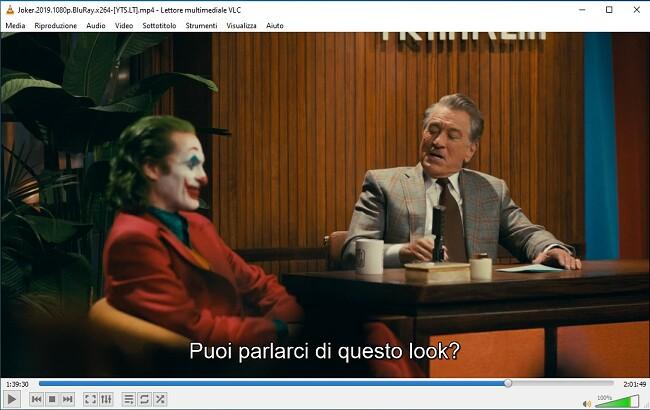 Visualizzazione dei sottotitoli su VLC Media Player
