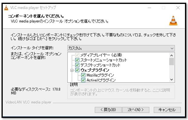 VLCセットアップオプション