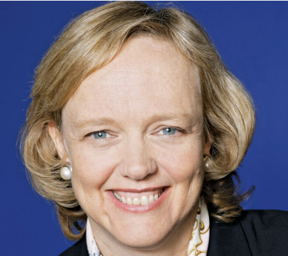 Portrait of Meg Whitman smiling at the camera.
