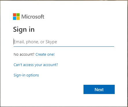Log in bij Microsoft