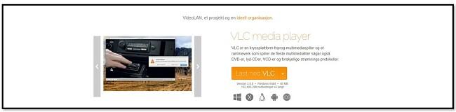 VLC offisiell nedlastingsside
