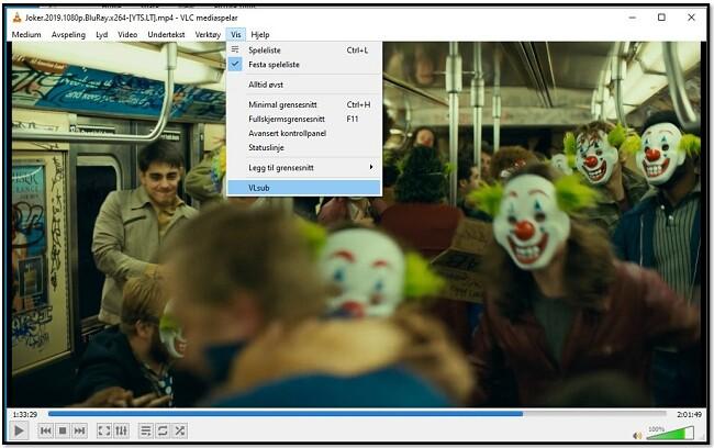 Søk etter undertekster med VLC VLsub