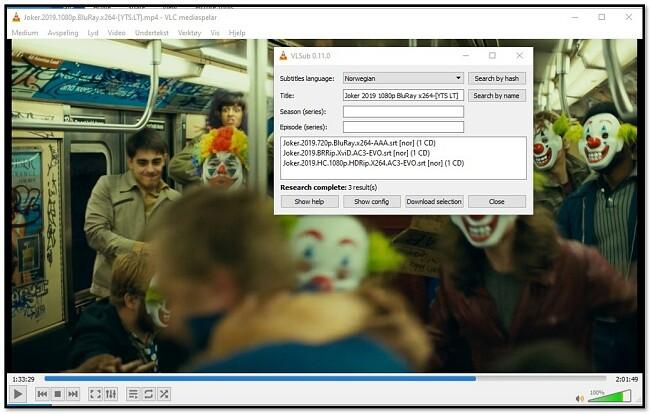 Legg til medieinformasjon til VLC VLsub
