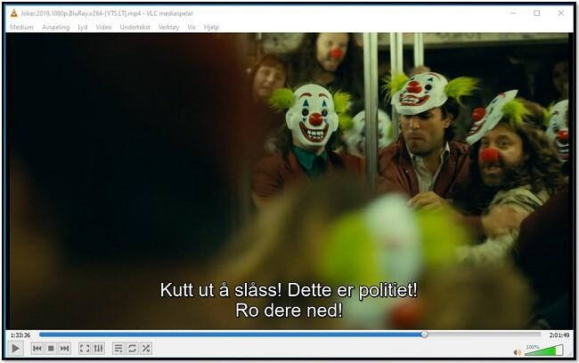 Viser undertittel på VLC Media Player