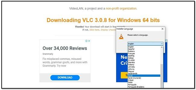 VLC Language Options