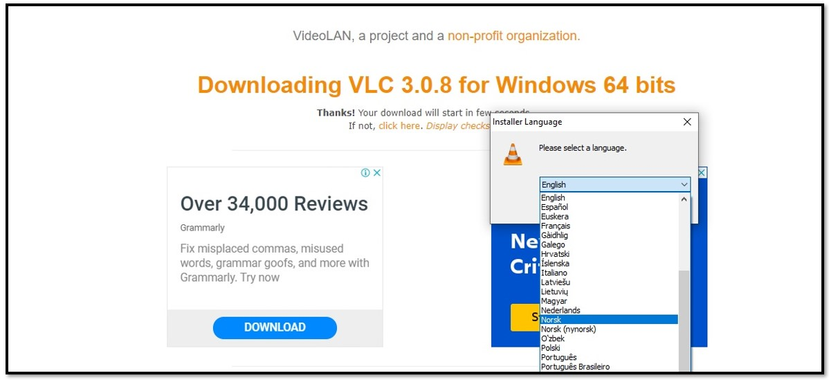 VLC Language Options