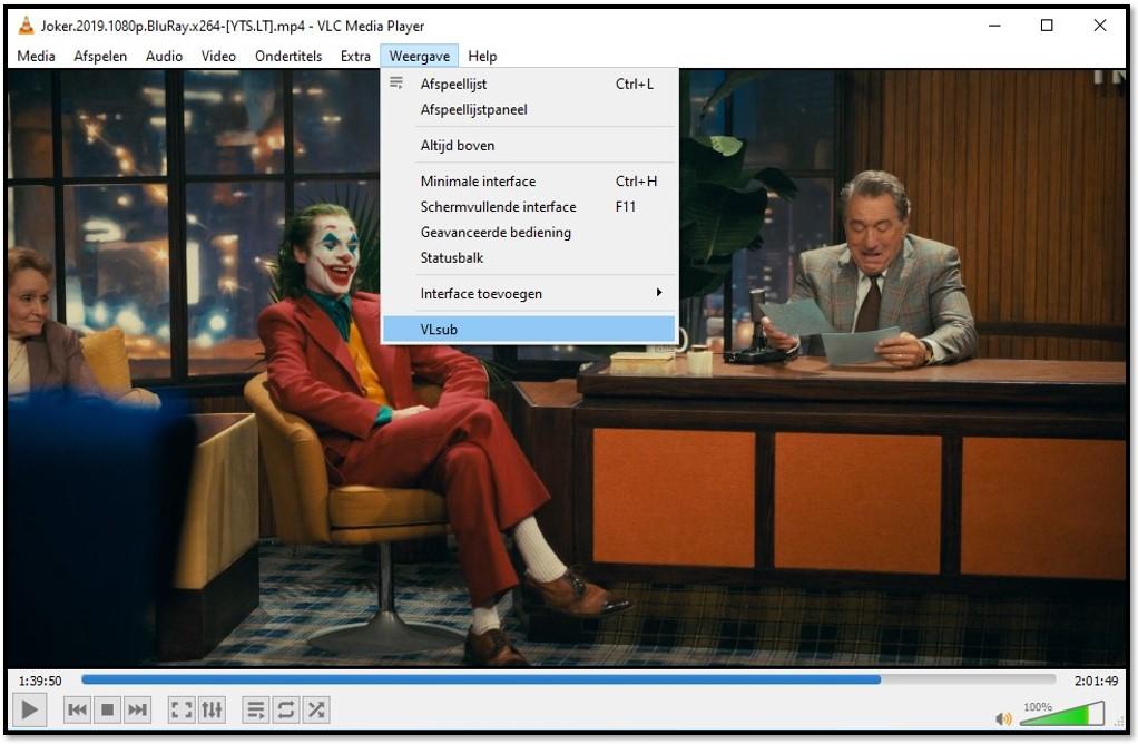 Zoek naar ondertitels met VLC VLsub