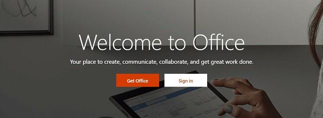 Pagina de start Microsoft Office