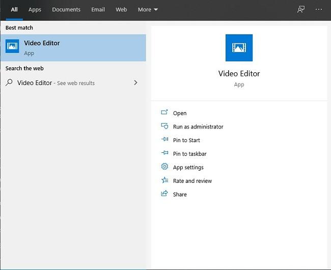 Отваряне на видео редактор