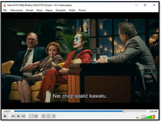 Wyświetlanie napisów w VLC Media Player