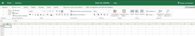 Excel grátis baseado em navegador