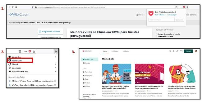Adicionando artigos ao Mozilla Firefox Pocket