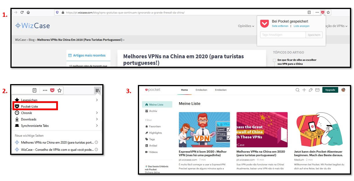 Adding Articles to Mozilla Firefox Pocket