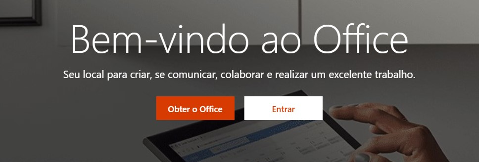 Página inicial do Microsoft Office
