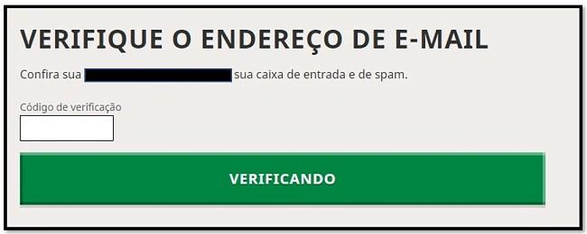 Verificação de e-mail da conta Mojang