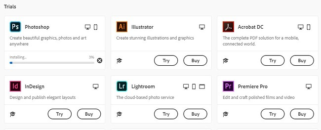 Creative Cloud-produkter