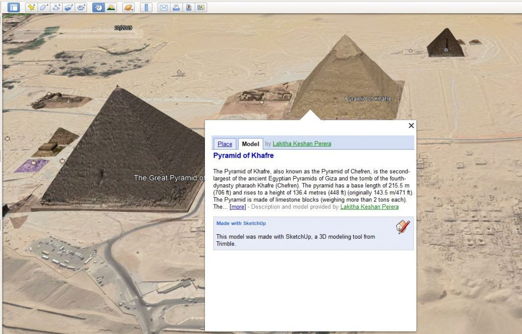 Piramide pe Google Earth Pro