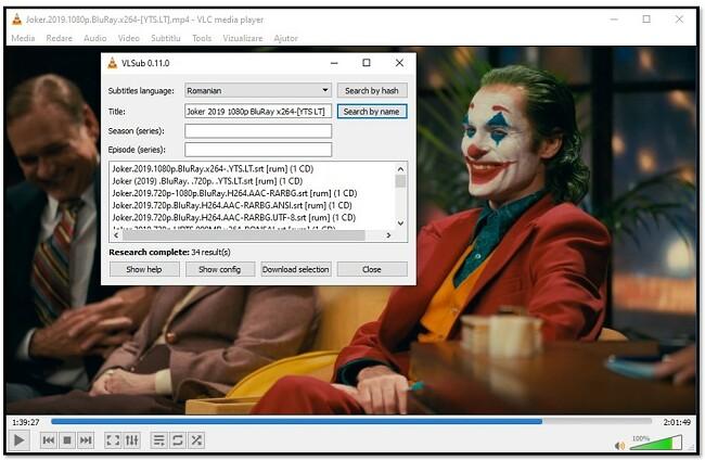 Adăugați informații media la VLC VLsub