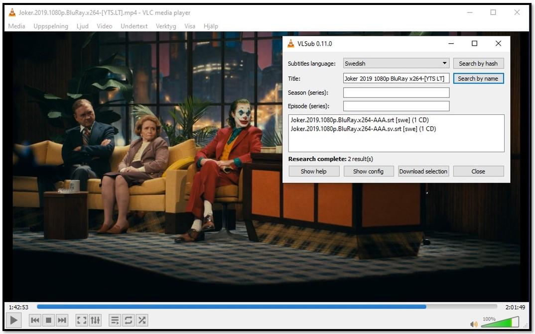 Lägg till medieinformation till VLC VLsub