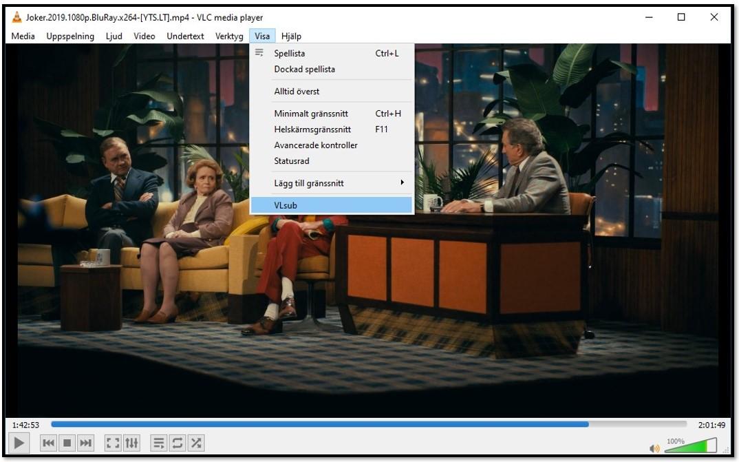 Sök efter undertexter med VLC VLsub