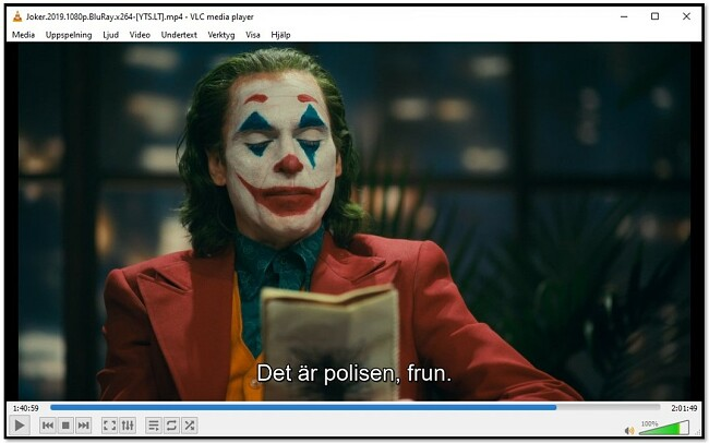 Visar undertext på VLC Media Player