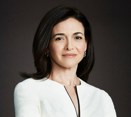 Portrait of Sheryl Sandberg smiling.