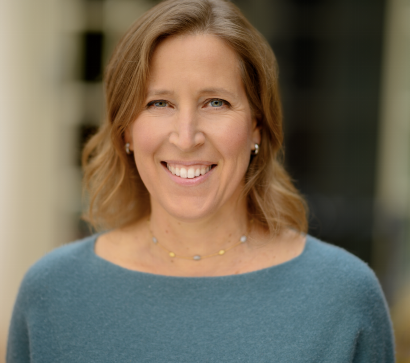 Portrait of Susan Wojcicki smiling at the camera.