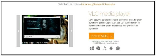 VLC Resmi İndirme Sayfası