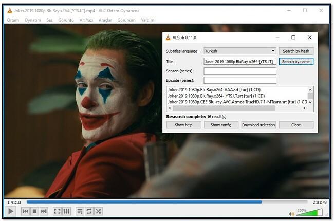 VLC VLsub'a Medya Bilgisi Ekleme