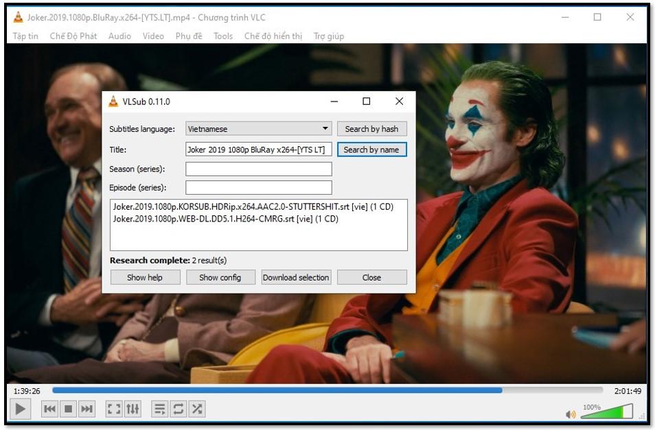Thêm thông tin truyền thông vào VLC VLsub