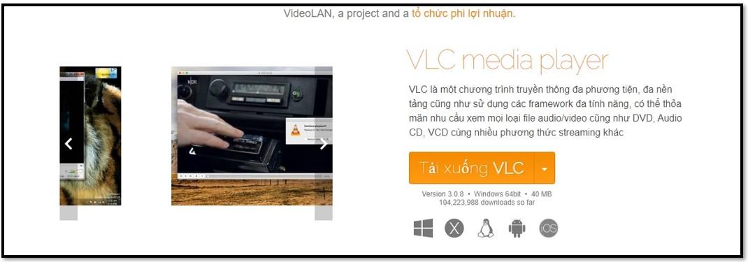 Trang tải xuống chính thức của VLC