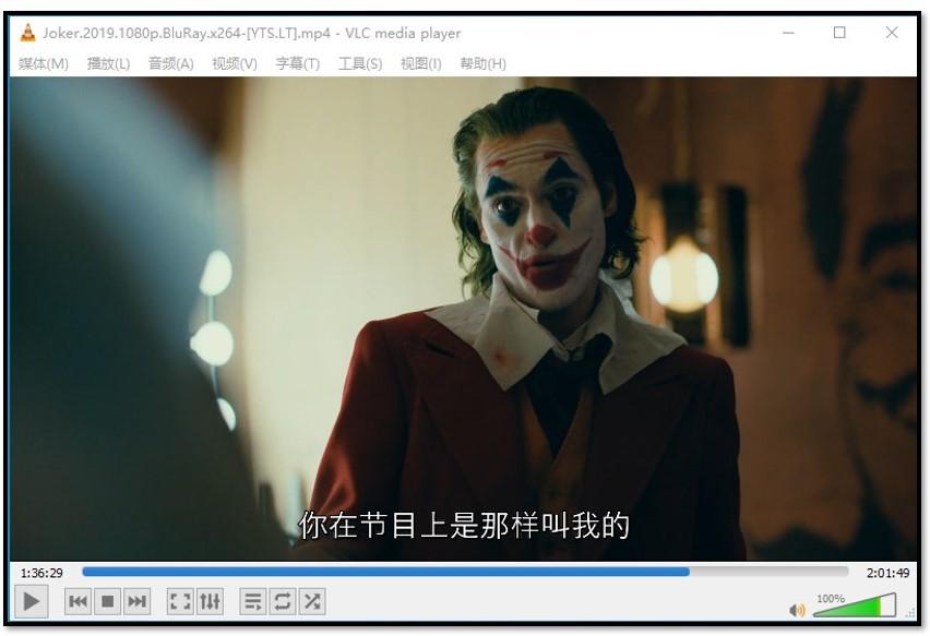 在VLC Media Player上显示字幕